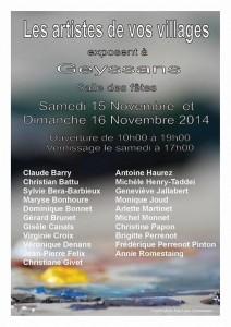 Nouvelle expo à Geyssans du samedi 15 au dimanche 16/11 !
