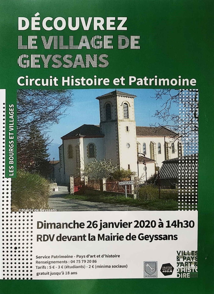 Circuit Histoire et Patrimoine 26 Janvier 2020
