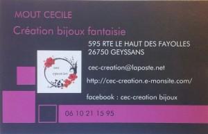 Cécile Mout / Création de bijoux fantaisie
